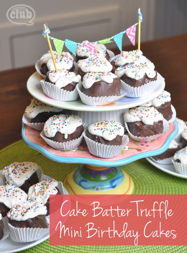 Homemade Cake Batter Truffles Mini Cakes