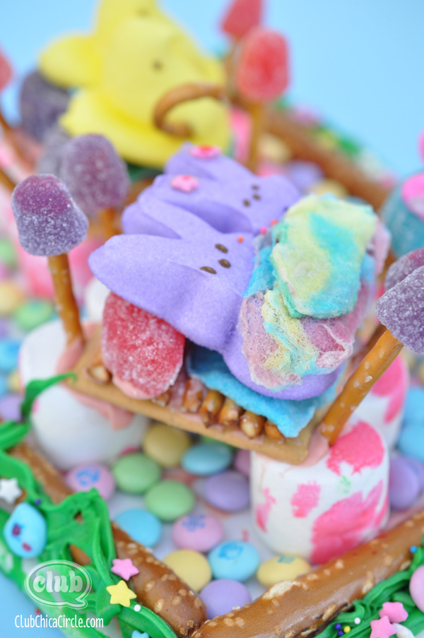 Peeps Candy Bed Closeup