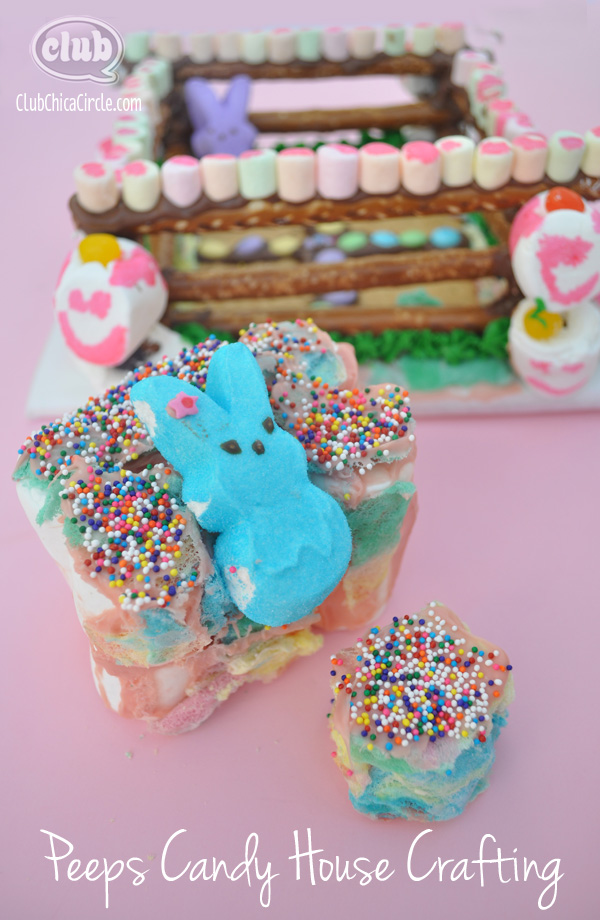 Peeps Candy House Kids Craft Idea