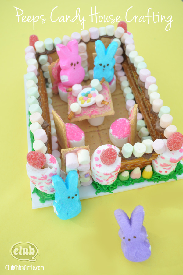 Peeps Tea Party Candy House Craft Idea