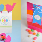 Spring and Easter Gift Bag Craft idea @clubchicacircle