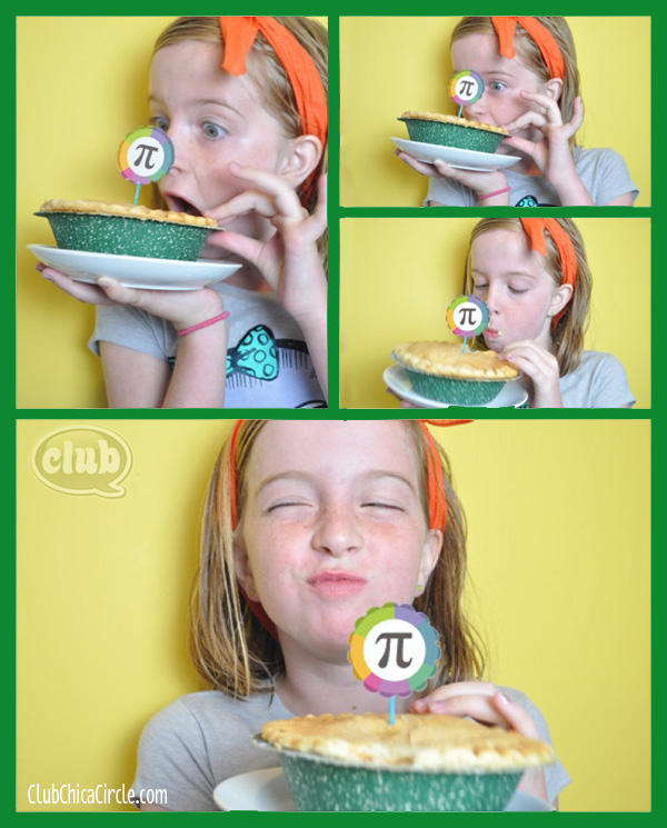 Tween girl celebrating Pi Day