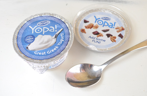 Yopa Greek yogurt toppings