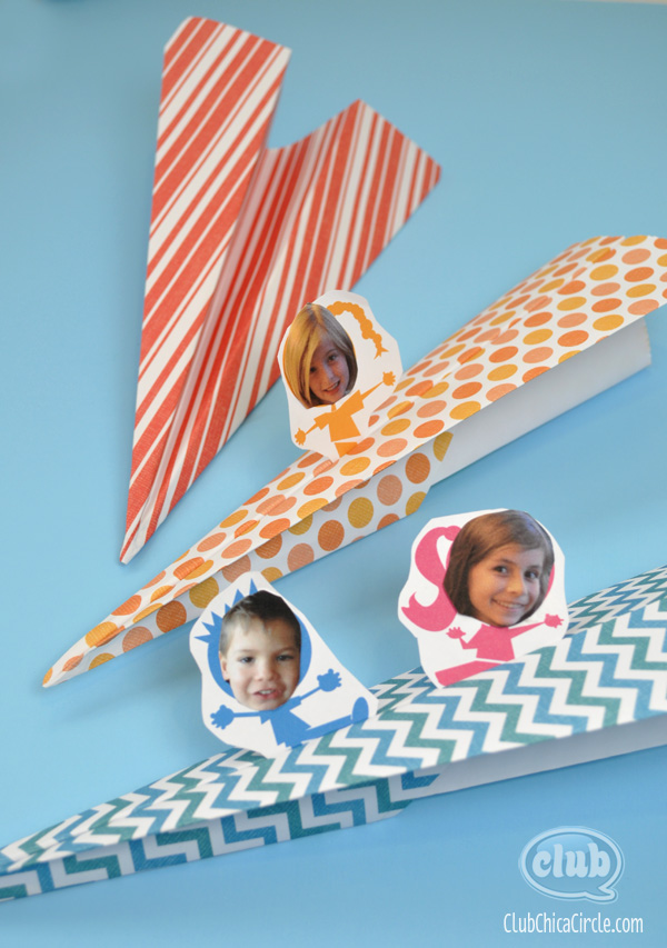 paper airplane craft project for kids