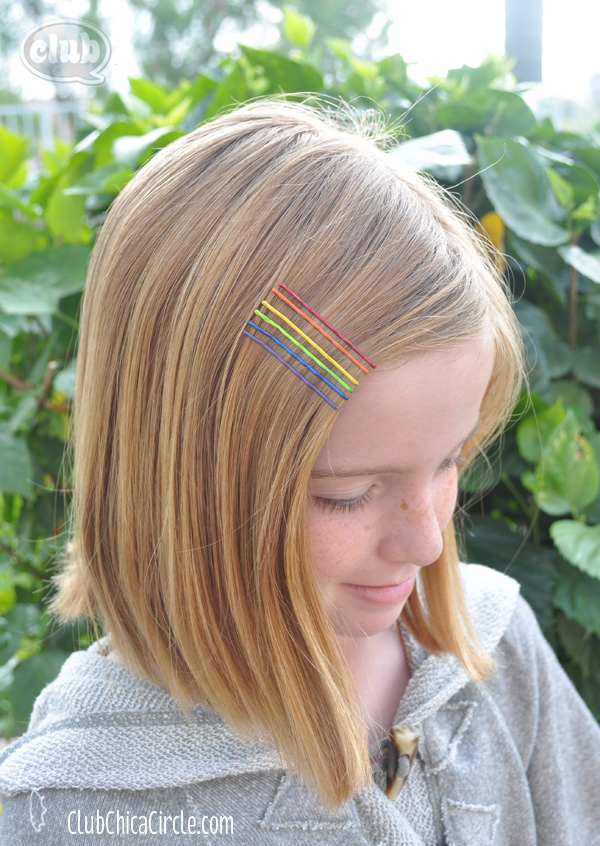 Rainbow Hair Accessories DIY Fashion
