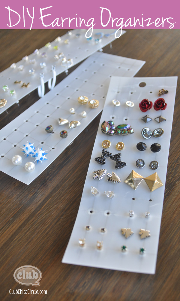 easy earring organizer craft idea