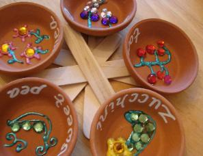 The Crafty Classroom Clay Saucer Garden Markers