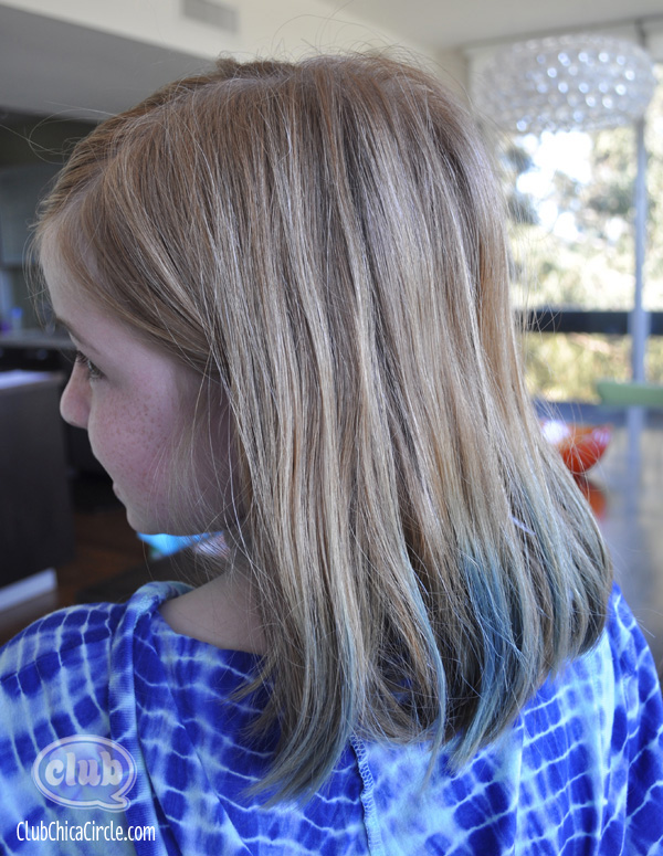 homemade hair chalk after one washing