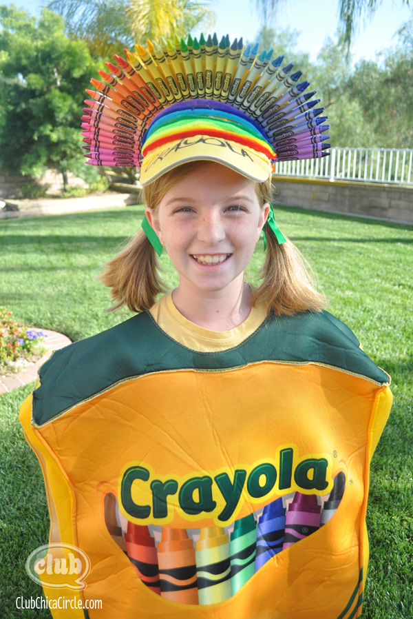 Crayola Crayon box homemade costume  sc 1 st  Club Chica Circle & Transform a Store-bought Costume into a Crafty Masterpiece