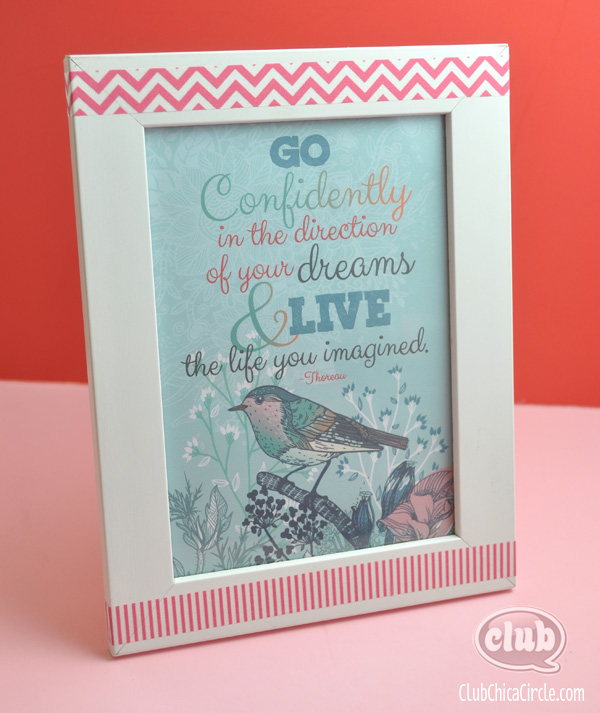 Go Confidently Framed homemade Graduation Gift