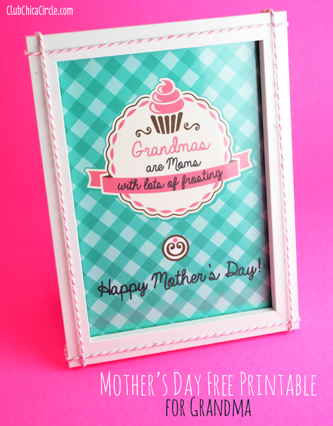 Mother's Day Homemade Gift Idea for Grandma with free printable