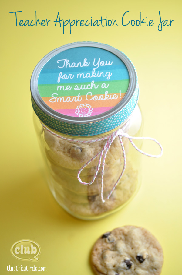Teacher Appreciation Cookie Jar Homemade Gift