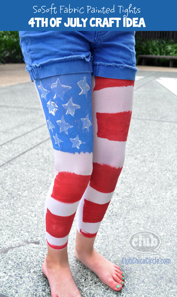 4th of July Flag leggings craft DIY @clubchicacircle