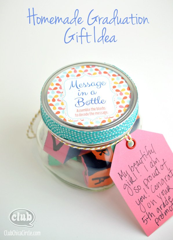 Message In A Bottle Homemade Graduation Gift Idea
