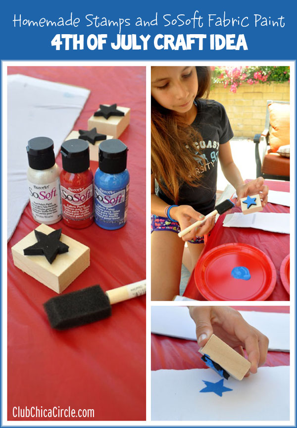 Homemade Stamps 4th of July Craft Idea