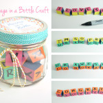 Message in a bottle jar craft idea