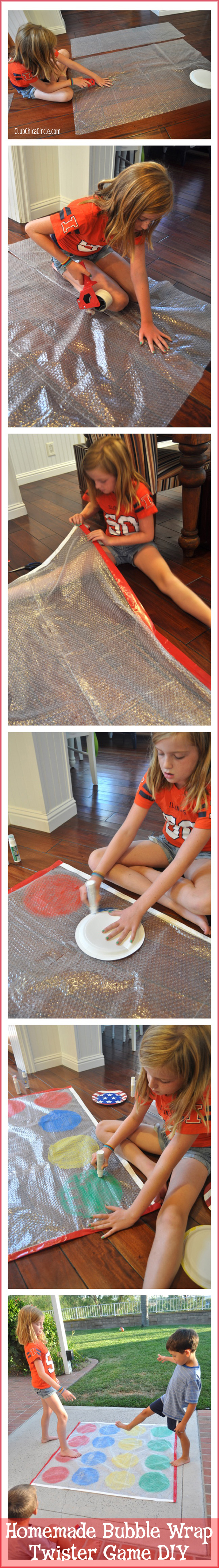 Bubble Wrap Twister Game DIY with DecoArt