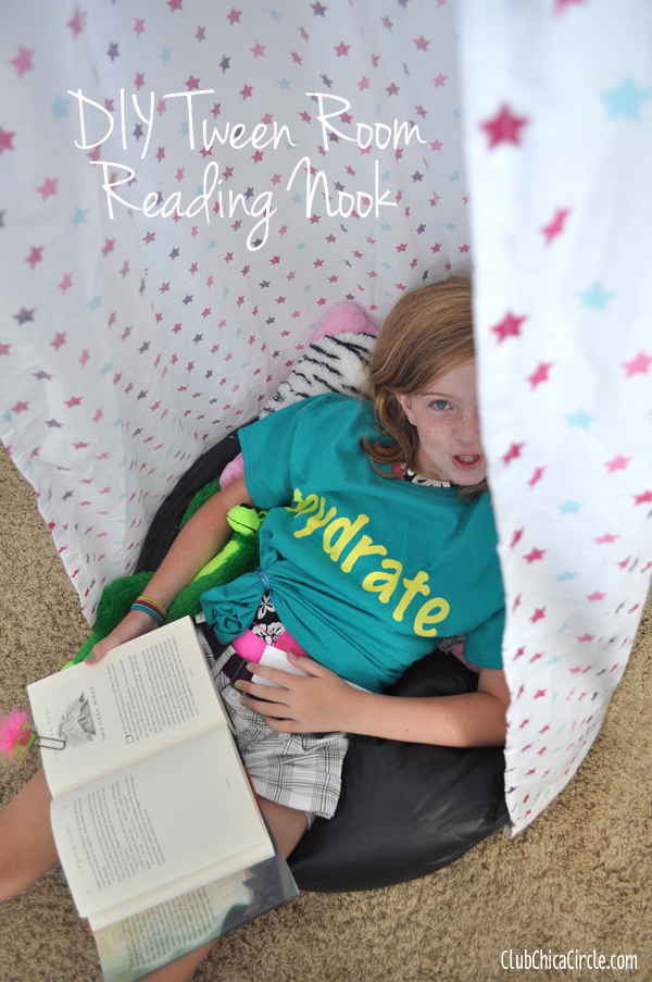 DIY Tween Girl Homemade Reading Nook