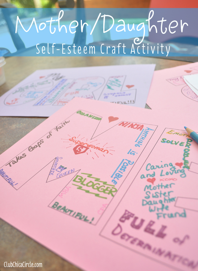 Dove Self-esteem activity for mom and daughter