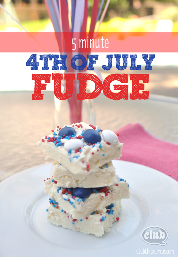 Five minute patriotic fudge recipe @clubchicacircle