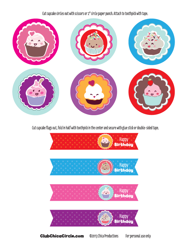 graphic relating to Happy Birthday Cake Topper Printable named Cost-free Content Birthday Cupcake Topper Printable