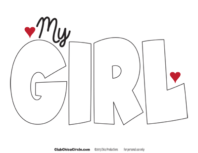 MY GIRL self esteem poster