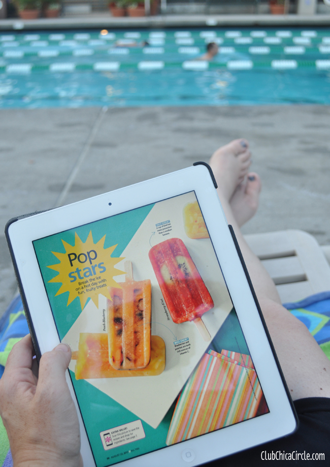 Next Issue App at the Pool