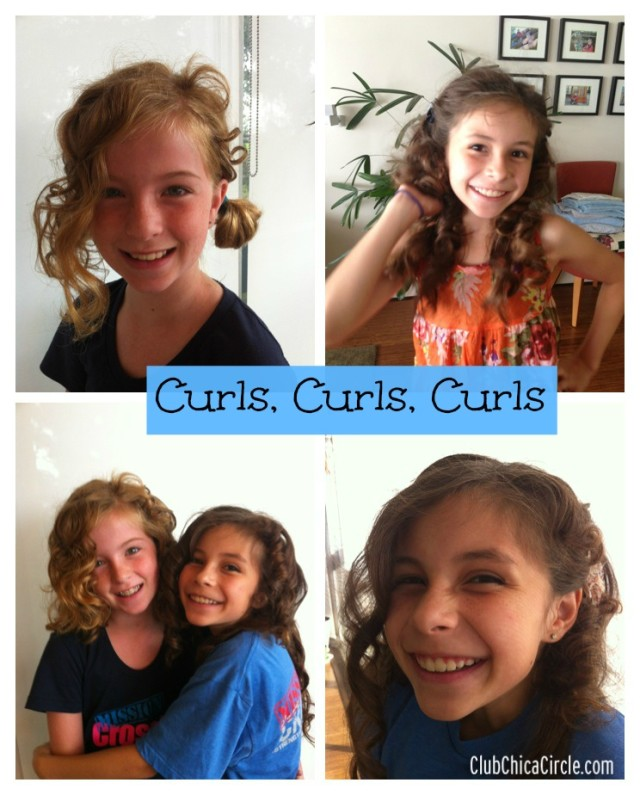Tween Curls Using Soft Foam Curlers