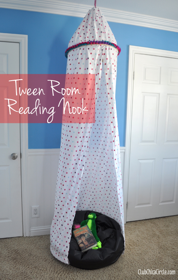 diy tween room reading nook