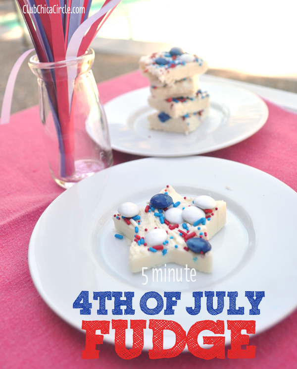 five minute 4th of July fudge stars @clubchicacircle