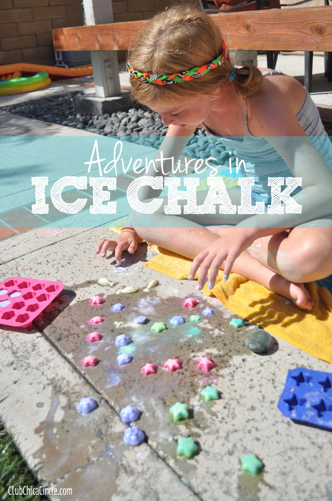 ice chalk boredom busting idea for kids