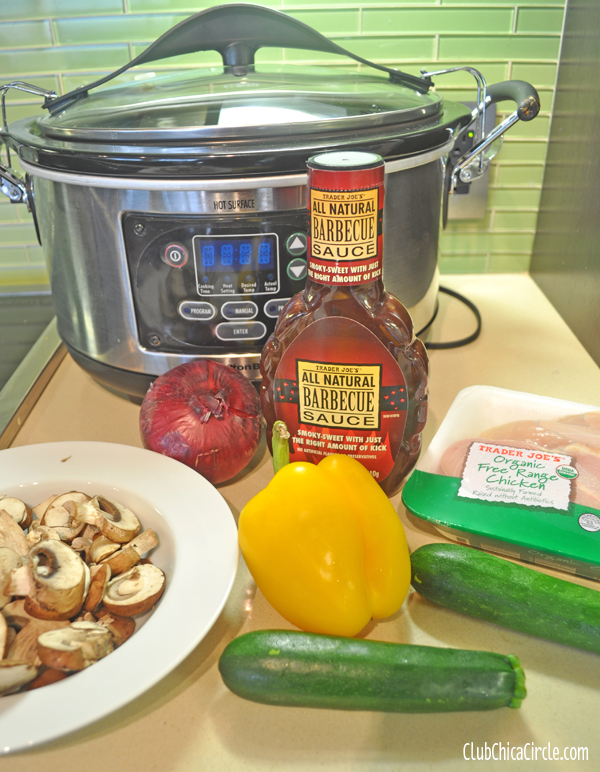 slow cooker BBQ chicken recipe ingredients