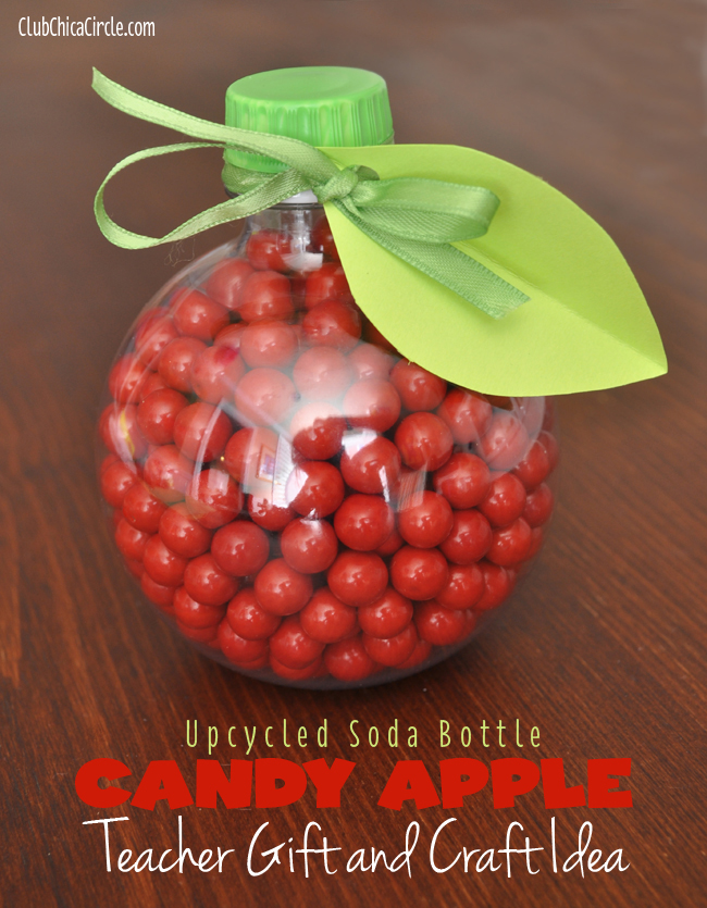 Apple Soda Bottle Candy Jar Craft Idea