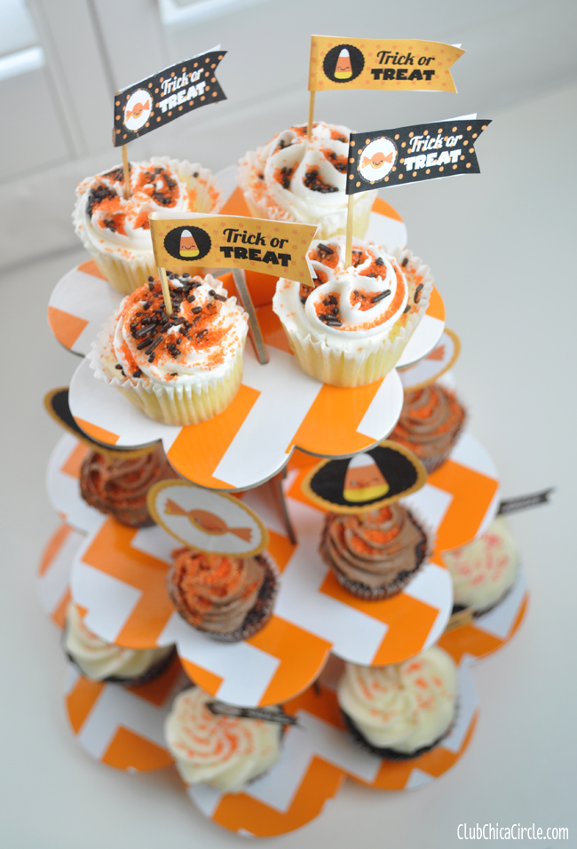 Halloween cupcake tower free printables