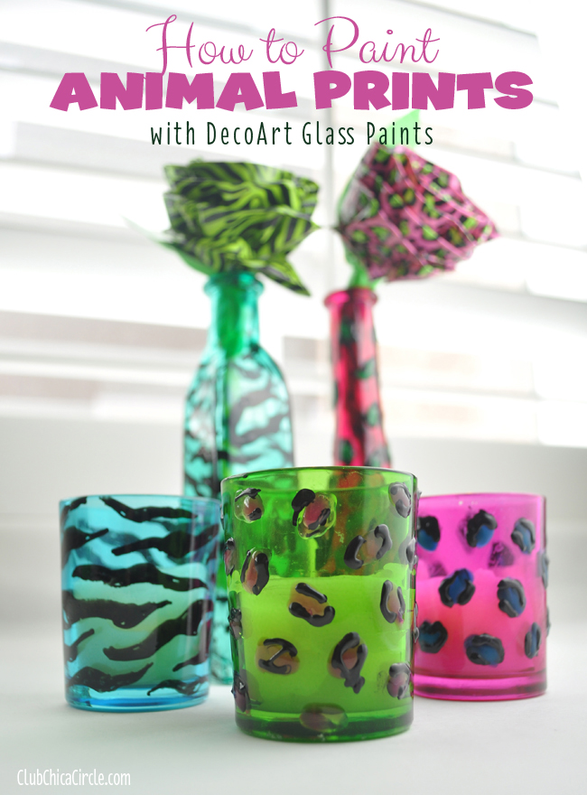 How to Paint Animal Prints wtih DecoArt Glass paints