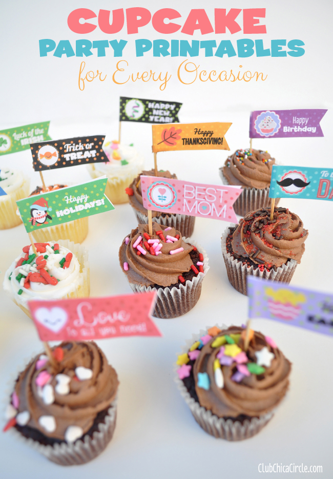 cupcake party flags @clubchicacircle for every occasion