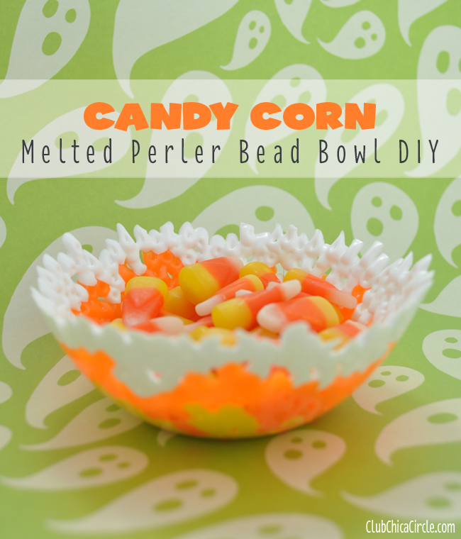 Candy Corn Melted Perler Bead Tween Craft Idea