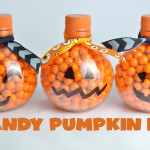 Candy Pumpkin Bottles Craft Idea