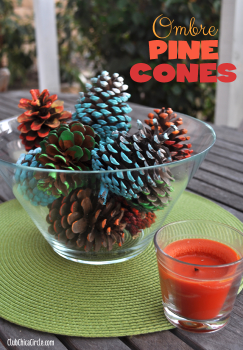 Ombre Pine Cones Fall Table Decorations