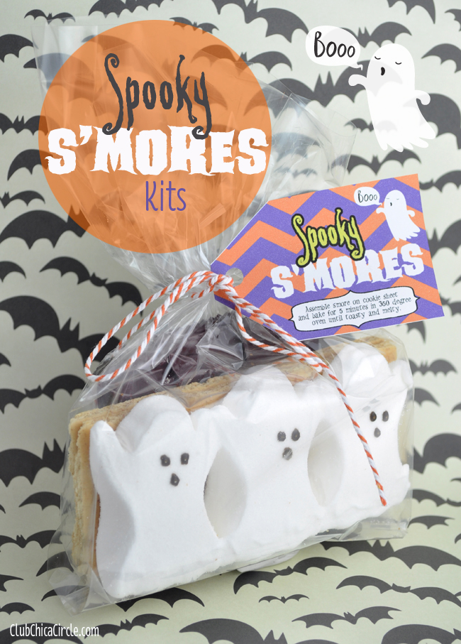 Spooky Smores Kits with Ghost Peeps
