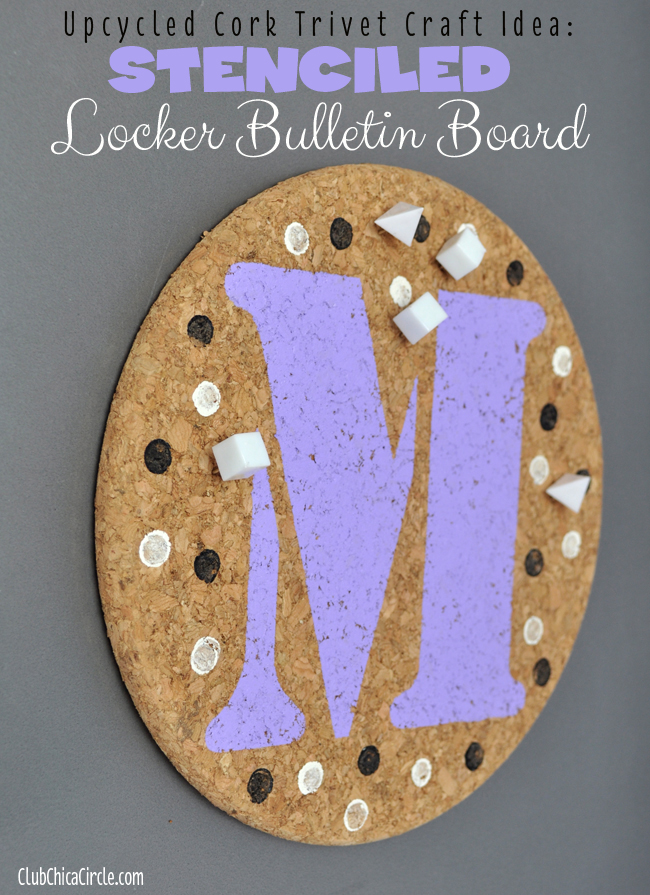 Trivet locker bulletin board tween craft idea