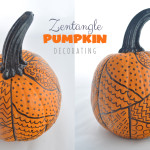 Zentangle Pumpkin Decorating