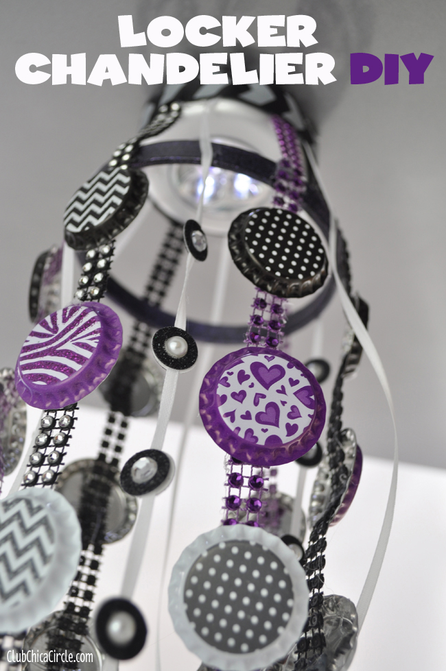 Tween locker craft ideas homemade locker chandelier diy aloadofball Image collections