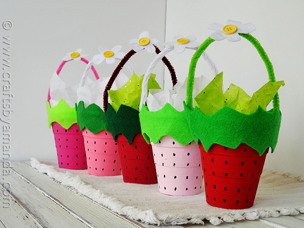 strawberry-cups-craft idea