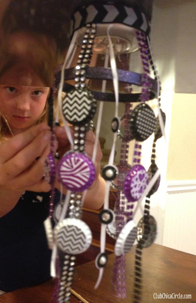 Tween locker craft ideas tween girl locker chandelier craft idea aloadofball Image collections