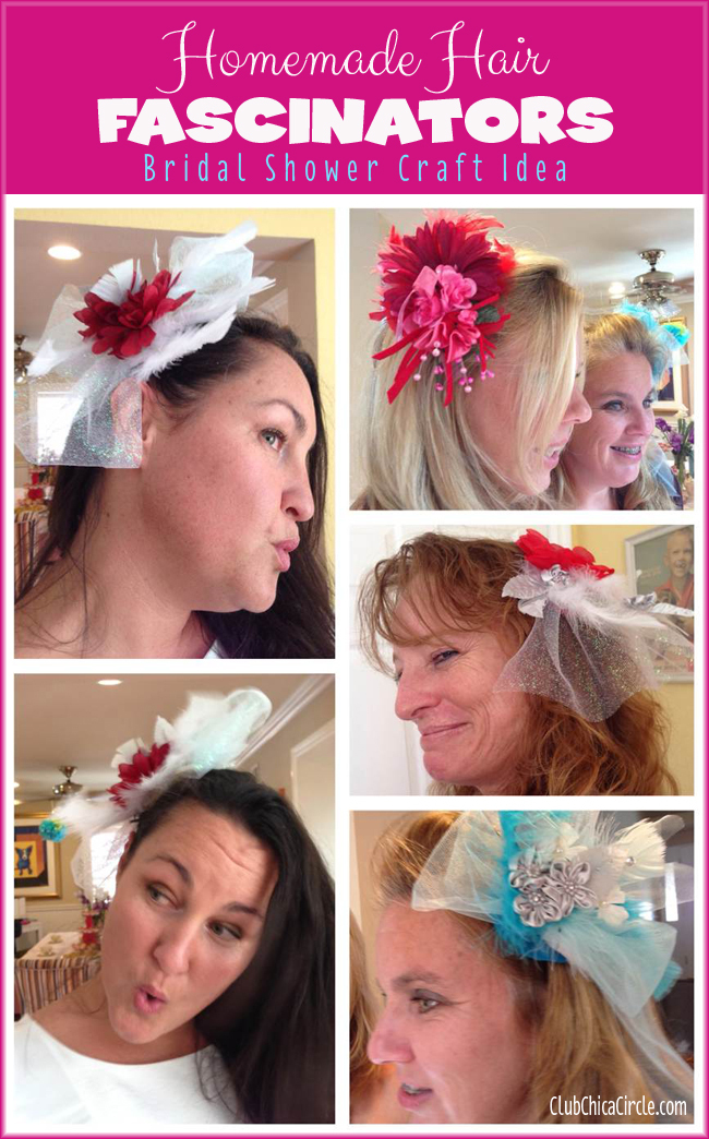 Bridal Shower fascinator craft ideas