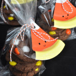 Chocolate Cake Candy Corn Cookies Gift Bags