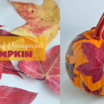 Fall Decoupaged Pumpkin Craft Idea