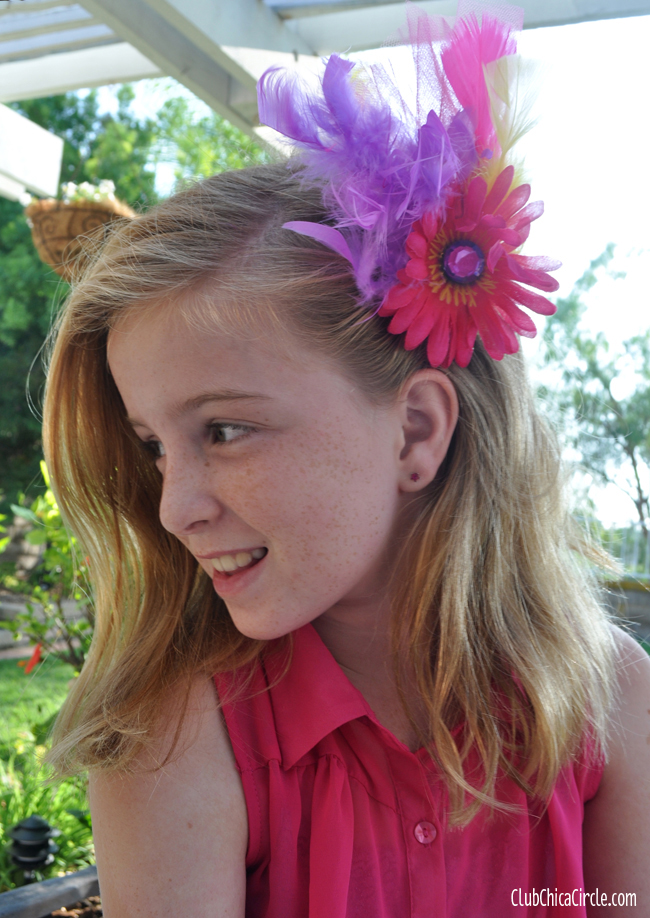 Fascinator craft idea for tween girl @clubchicacircle