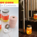 Mason Jar Candy Corn Luminary Craft @clubchicacircle